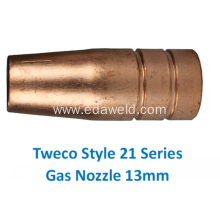 Best Quality for Automatic Gas Injector Nozzle Tweco 21-50 13mm Gas Nozzle export to China Taiwan Suppliers